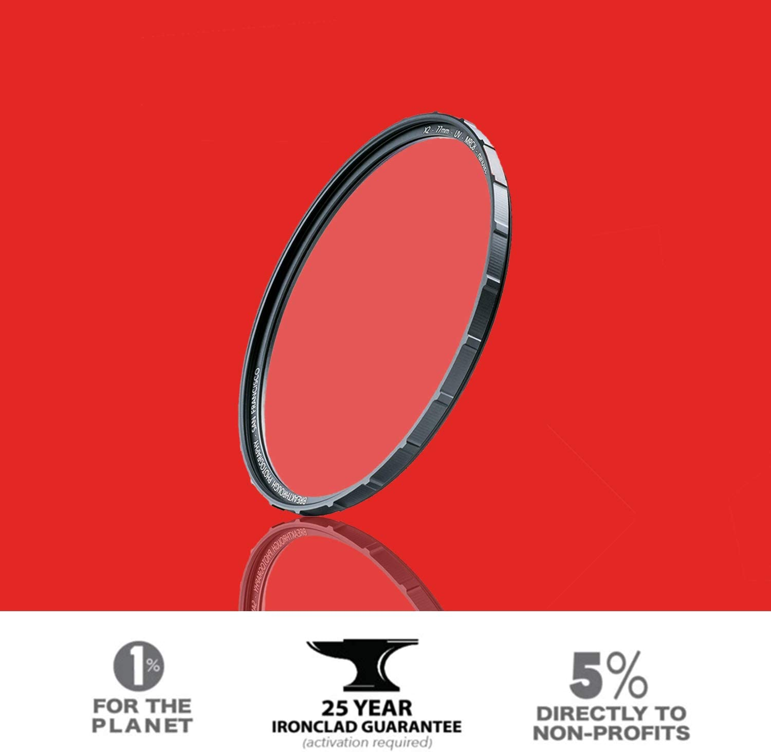 25 Year Support Breakthrough Photography X2 UV 49mm Ultra-slim Aluminum Frame Nanotec Weather-sealed Lens Cloth Included MRC8