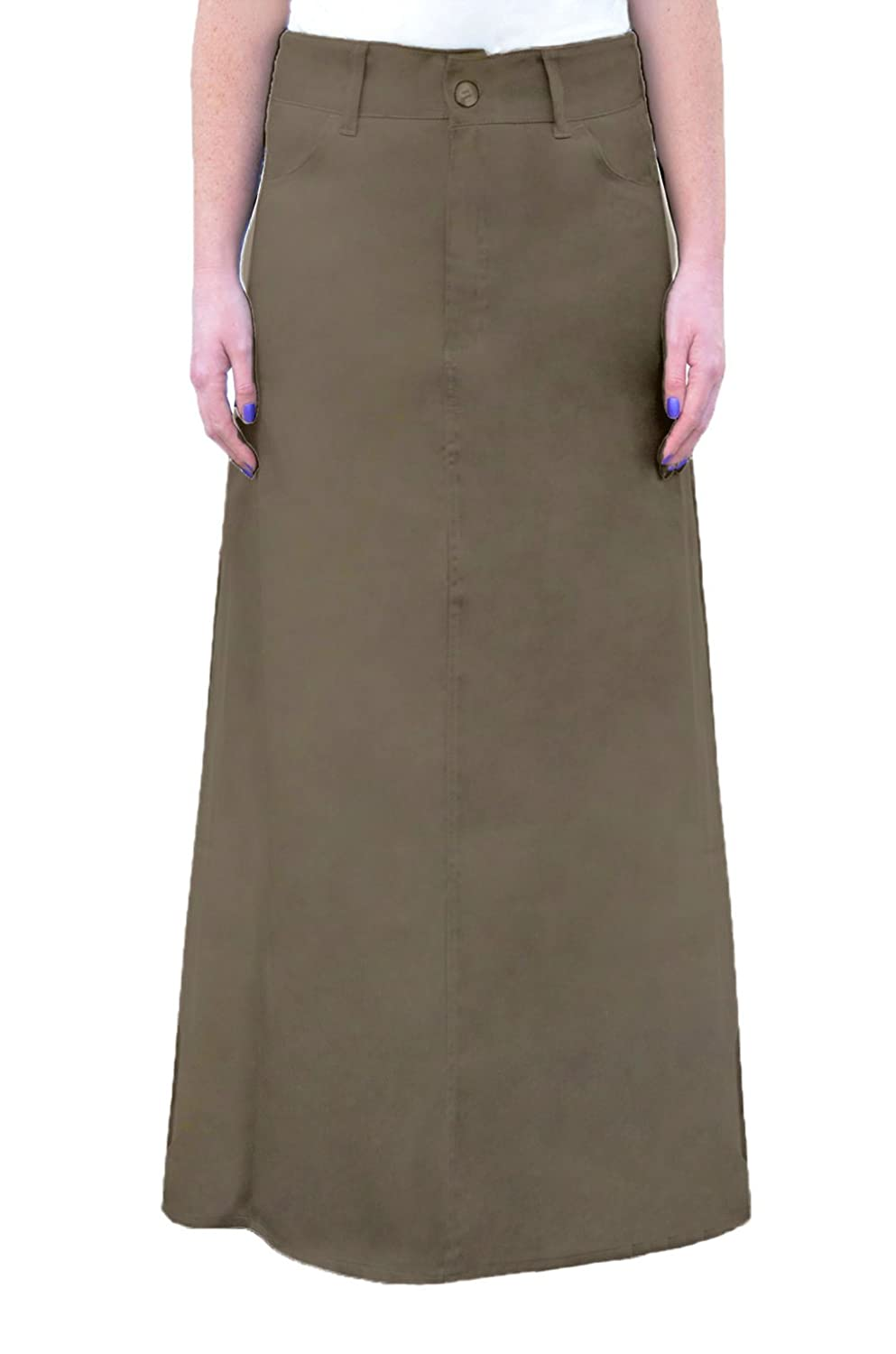 75f5ac0c4a Kosher Casual Women's A-Line Modest Long Cotton Light-Weight Twill Maxi  Skirt at Amazon Women's Clothing store: