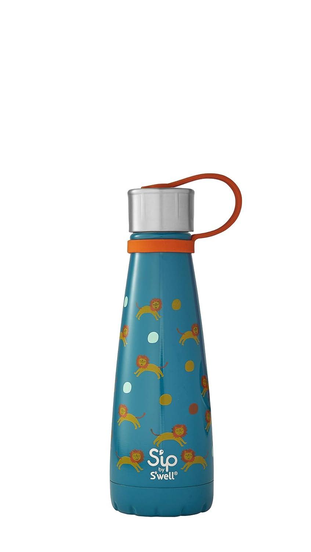 S'ip by S'well 20010-B18-07340 Water Bottle, 10oz, Little Lions