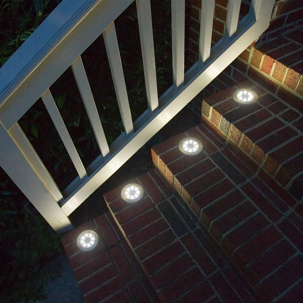 Aogist Solar Ground Lights,8 LED Garden Lights