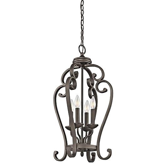 Amazon.com: Lámpara colgante de 4 luces con acabado de ...