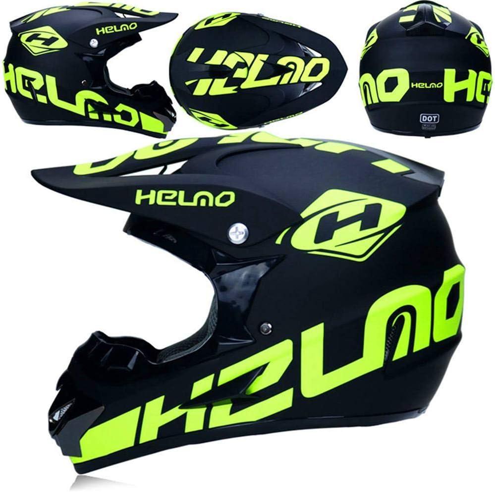 5 St/ück B, M Motorrad Crosshelm,Full Face MTB Helm Kinder CrossHelm Motorradhelm Kinder,Motocross Helm mit Brille Handschuhe Maske Motorrad Netz, NKFDLY-Motorradhelm