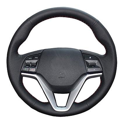 eiseng Funda de Volante de piel auténtica de bricolaje para Hyundai ...