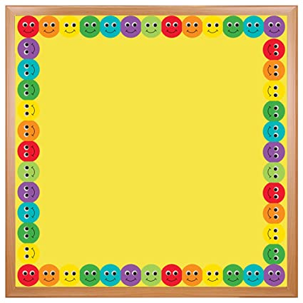 Amazon Com Hygloss Products Smiley Face Die Cut Bulletin Board
