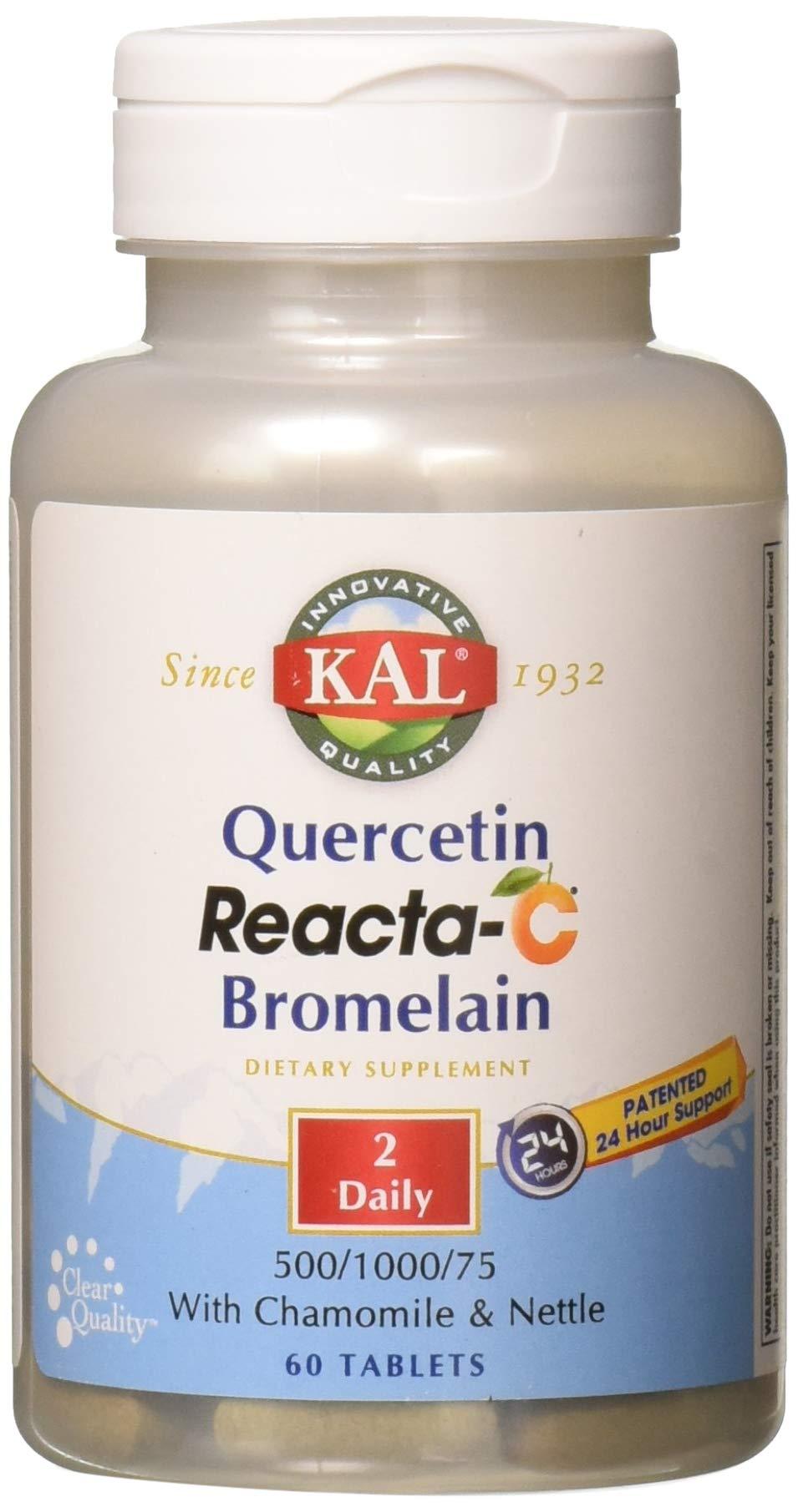 Kal Quercetin Reacta-c Bromelain Tablets, 60 Count