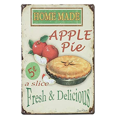 HiSign Made Apple Pie Fresh &Licious,Coffee,Ative,Size Retro ...