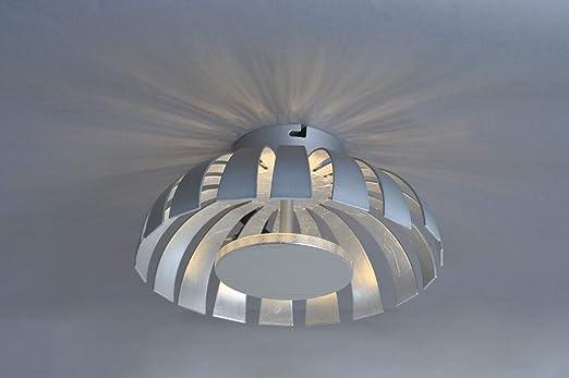 LED Deckenleuchte Silber Design Ø26cm 3000K 1100lm ...