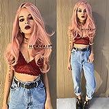Heahair Best Pastel Peach Long Full WavySynthetic Lace Front Wigs