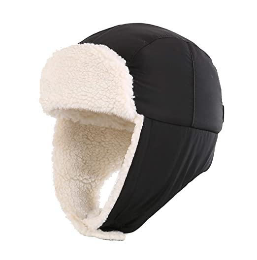1e7f6944edb Home Prefer Baby Boys Winter Hat Windproof Outdoor Skull Cap with Earflaps  Trapper Hat Sherpa Aviator