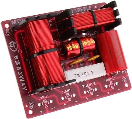 150W Altavoz Graves Divisor de Frecuencia de Audio Subwoofer Filtros de Crossover de 3 Vías