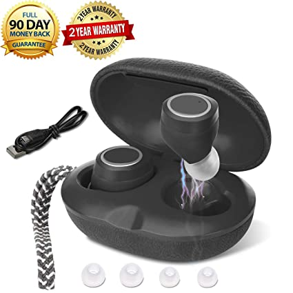 a7096c7f23d Leather Wireless Earbuds, MaxRona Deep Bass Wireless Headphones 14H  Playtime Ture Wireless Bluetooth Earbuds Mini