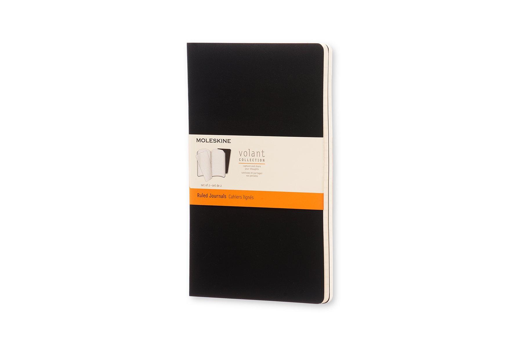 Moleskine Volant Tapa Blanda Negro (13x21cm) (set X 2)