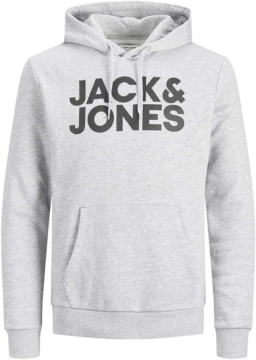 JACK & JONES 12152840 Sudadera con capucha, Gris (Light Melange), M para Hombre