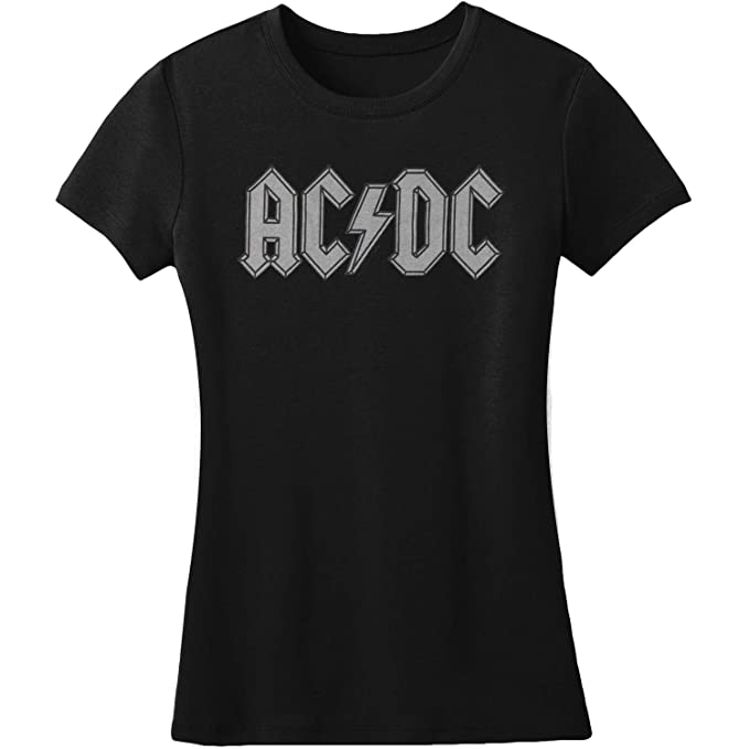 AC//DC Hard Rock Band Music Group About To Rock Album Youth Grey T-Shirt Tee