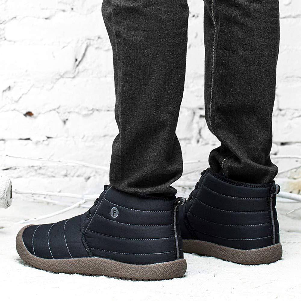 ❤ Zapatos de algodón de Terciopelo a Prueba de Agua para Mujer Calzado sin Cordones cálido Invierno Zapatos de Felpa Botas de Nieve Botines Absolute: ...