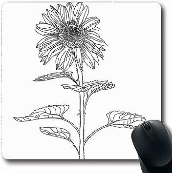 Luancrop Alfombras Flor de Girasol Rama Floral para Dibujo