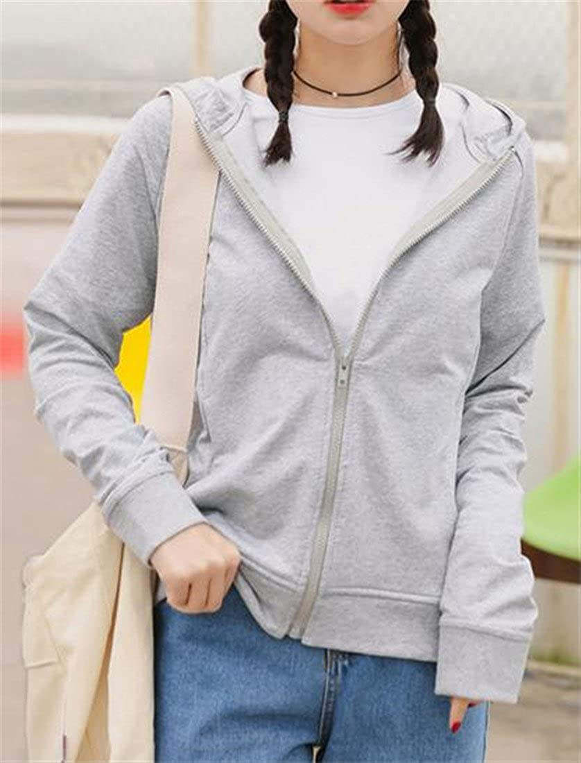 Blyent Womens Classic Fit Zipper Long Sleeve Sweatshirt Hoodies Casual Jacket Outwear