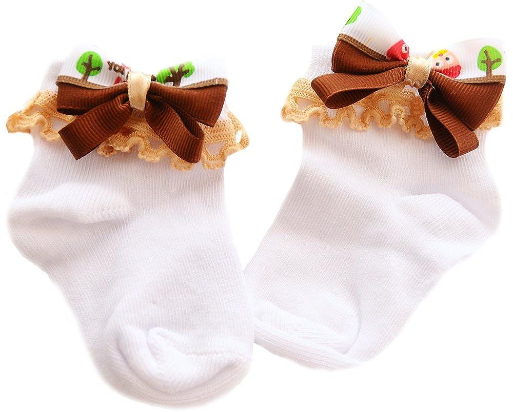 La Bortini Baby Socken S/öckchen Shoes Socks mit Schleife Wei/ß festlich Taufe
