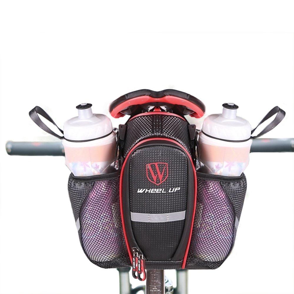 wheelup con portabottiglie BICICLETTA CICLISMO bicicletta di montagna strada, Strisce Riflettenti, fissaggio in velcro Bicicletta o borsa telaio della C13, Rot