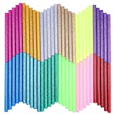 Petift Colored Glitter Hot Glue Sticks,Hot Melt Adhesive Glue Sticks Mini Size 0.27 inch by 3.93 inch,12 Color 60 pcs for Arts Crafts, DIY, Home General Repair, Crafting Project, Holiday Ornament