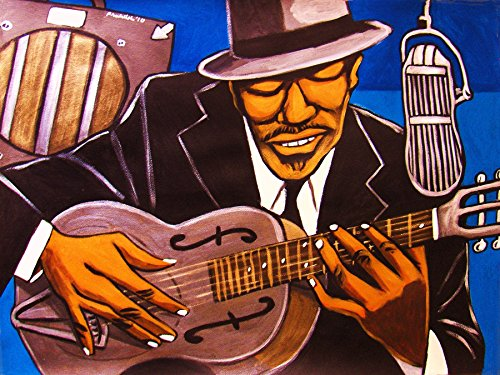 BLIND BOY FULLER PRINT POSTER guitar cd worried man lp album cat man vinyl national steel truckin' my blues away