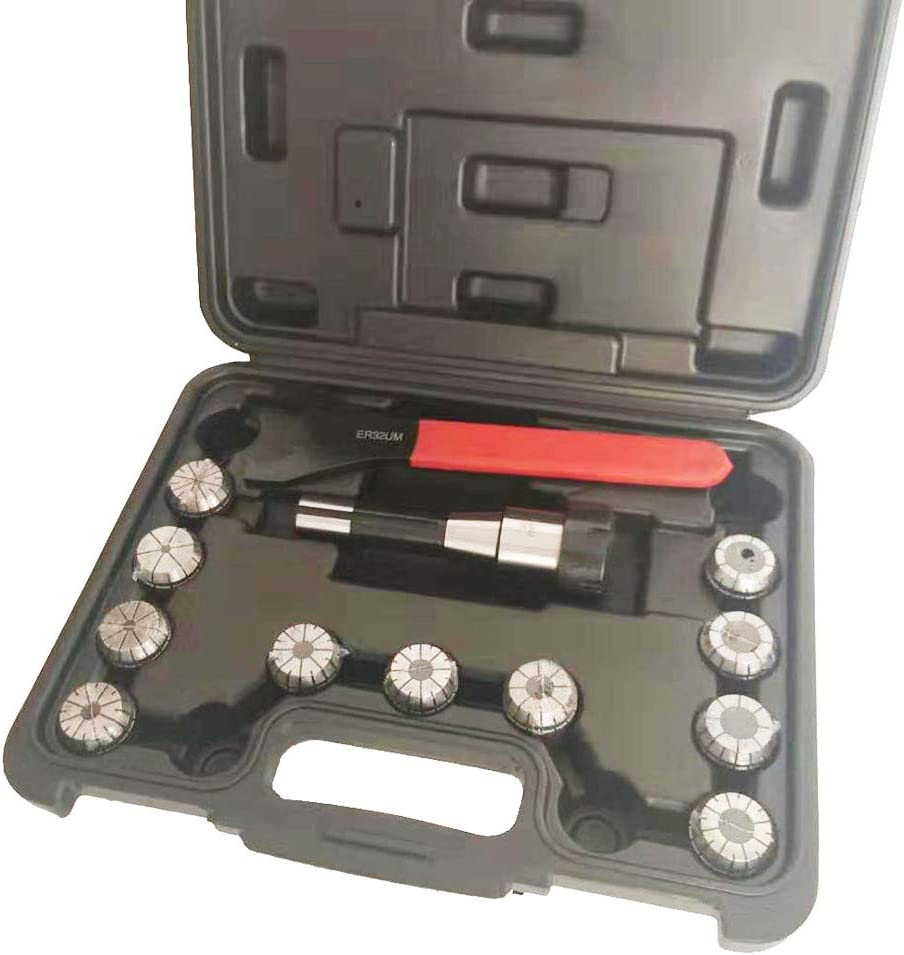 Intbuying R8 Shank ER32 Collet with 11pc Tool Set CNC Lathe Spring Collet Tool