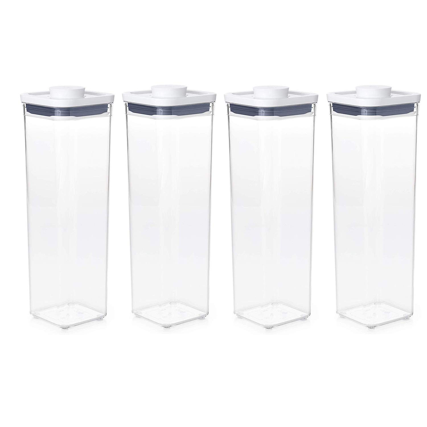 OXO Good Grips POP Container - Airtight Food Storage - 2.3 Qt Square (Set of 4) for Spaghetti and More