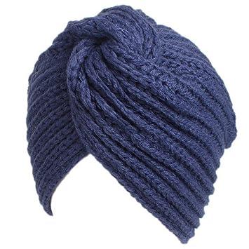 Amorar Gorro de Punto Beanie Women Chemo Hat Slouch musulmán Turbante  Turban para la pérdida de a7d76170150