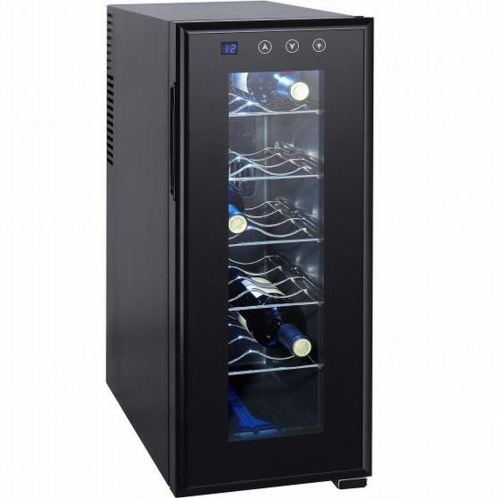 Syntrox 12 Flaschen Weinkühlschrank, Getränkekühlschrank mit LCD-Display und Touch-Screen - moderner Weinkühler für optimale Getränke Temperatur Syntrox Germany
