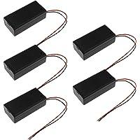 9 V PP3 Batterij Opslag Houder Case met AAN/UIT Schakelaar Cover Zwart Plastic & 1007 # 26AWG Draad voor 6F22 Batterij 5…