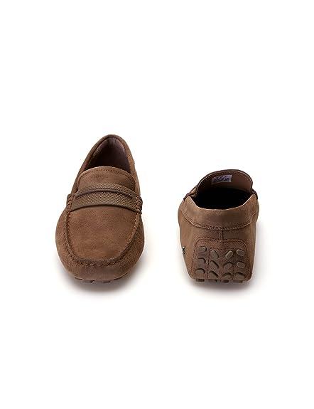Lacoste - Mocasines de Piel para Hombre Marrón marrón Talla única, Color Marrón, Talla 43: Amazon.es: Zapatos y complementos
