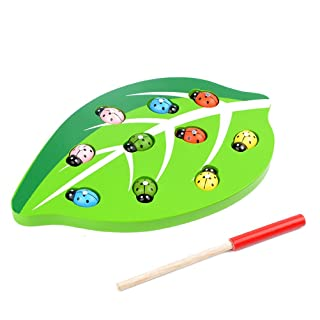 TOYMYTOY Magnetic Catch Insects Gioco Toy Magnetic Development giocattoli educativi precoce in legno per bambini Toddlers