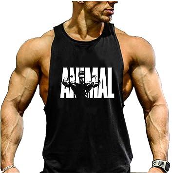 32d4fa6fd63dc Cabeen Animal Débardeur Homme Musculation Running Bodybuilding Tank Tops