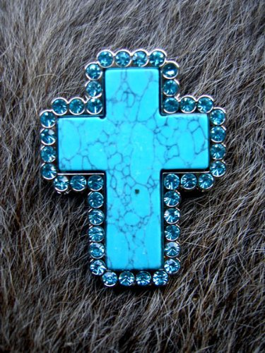 - Challenger Tack 4 Conchos Rhinestone Horse Saddle Western Cross CO65