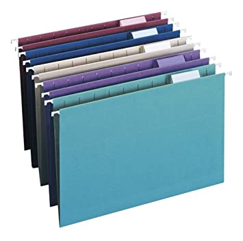 Smead Hanging File Folder with Tab, 1/5-Cut Adjustable Tab, Legal