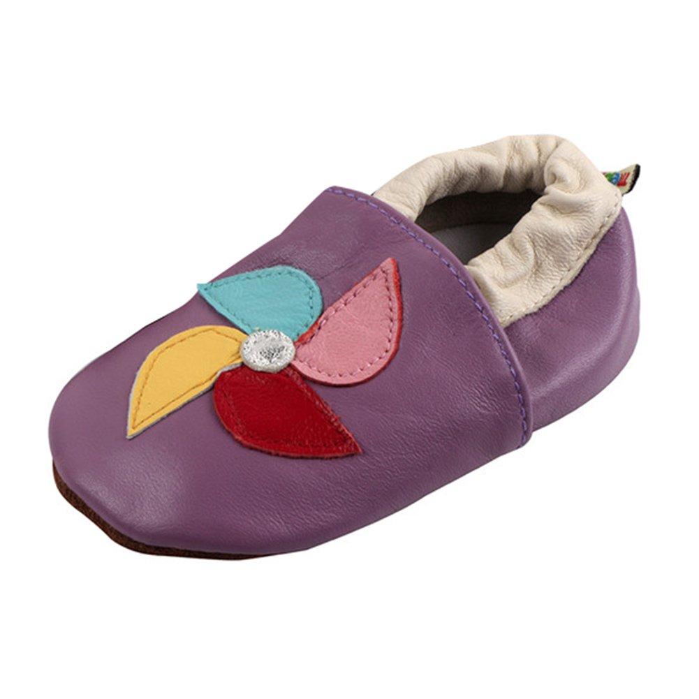 LSERVER-Premium Weich Leder Babyschuhe-Jungen und Mädchen BabySchuhe-Erste Laufschuhe und Krabbelschuhe B39D30SLIU6100