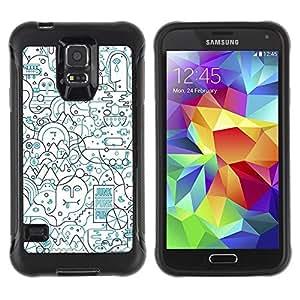 Suave TPU GEL Carcasa Funda Silicona Blando Estuche Caso de protección (para) Samsung Galaxy S5 V / CECELL Phone case / / Lines Abstract Art Pen Shape Busy /