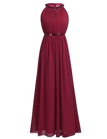 iiniim Damen Kleid Elegant Kleid Langes Sommer Kleid festlich Party Hochzeit  Chiffon Abendkleid Cocktailkleid Gr. 97030637fe