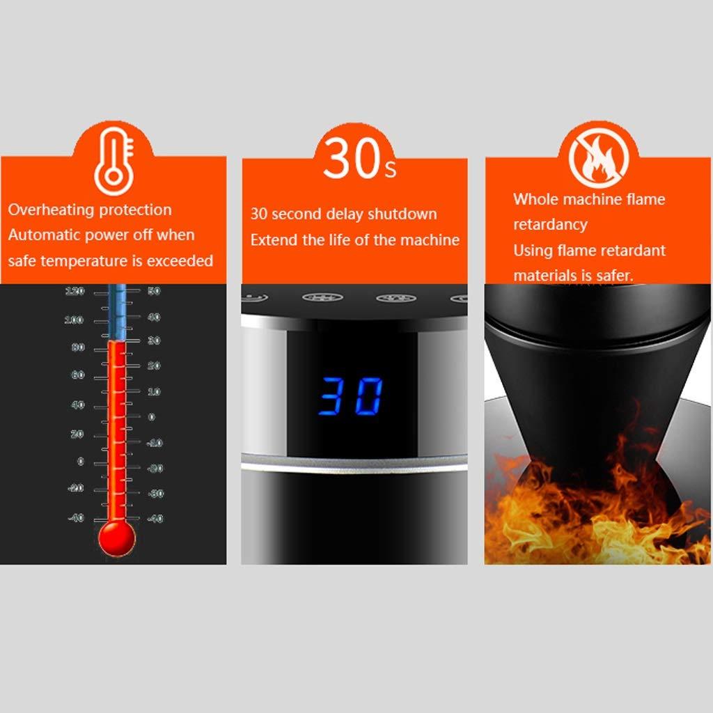 NAUY@ Termoventilatore a torre elettrico ceramico oscillante in ceramica ceramica ceramica con 3 impostazioni di calore e impostazione ventola di raffreddonnato, timer a 8 ore, protezione da sovratensioni Riscaldatori 6eb3bf