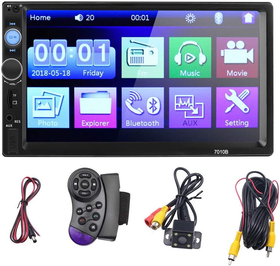 Steering Wheel Control Reversing Camera US Storaged sakd Car MP5 Player Double Din Car Stereo Audio Radio Receiver Touchscreen Digital LCD Monitor