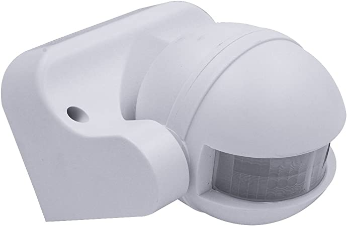 Pir detector 140 deg motion mouvement capteur interrupteur de lumière extérieure de sécurité blanc