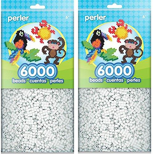 Perler Beads White Bead Bag (6000 Count) (Parent)