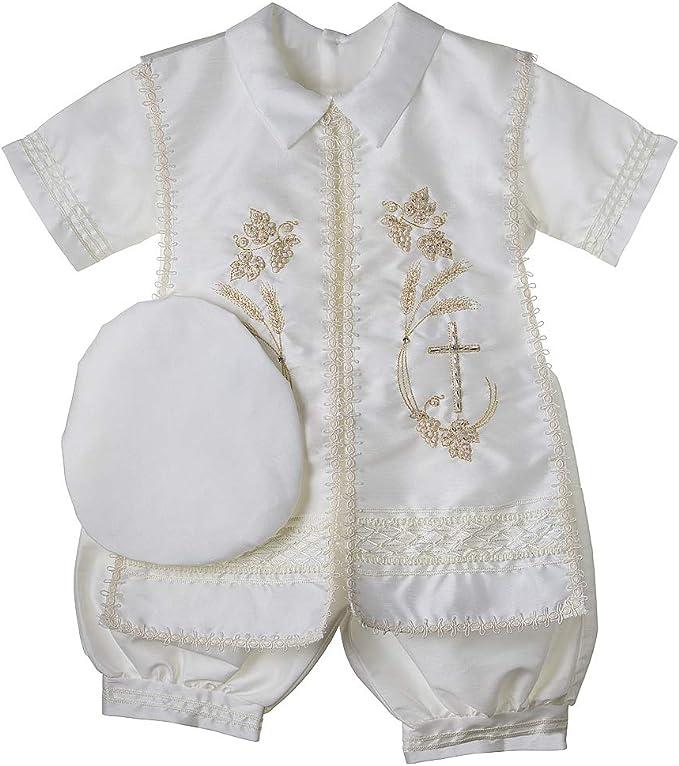 Amazon.com: Bautismo bautizo Outfit para niño, 4 piezas ...