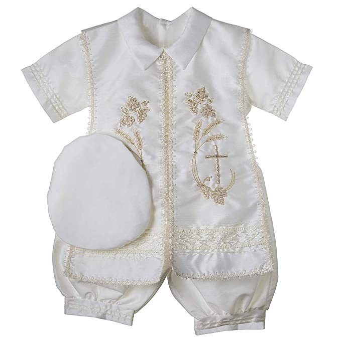 Baptism Outfit for Boy, 4 Piece Christening Set, Blessing Outfit, Traje de Bautizo, Baby Outfit, Style Cap 802