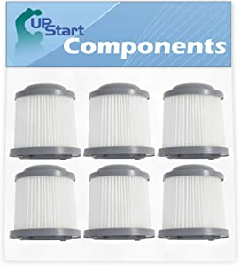 6-Pack PVF110 Filter Replacement for Black & Decker Lithium Pivot Vacuum Cleaner - Compatible with Black & Decker 90552433 & 90552433-01 Filter