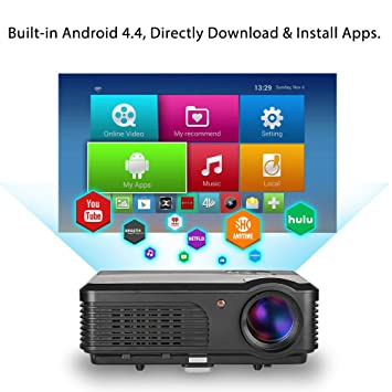 HD WiFi LED LCD Proyector Android 4200 Lumen con DVB-T2 Digital TV ...