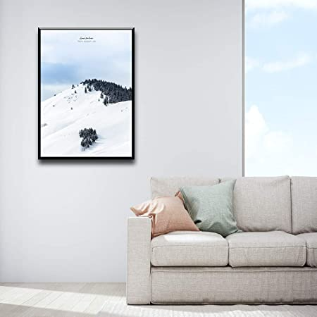 Adgkitb Canvas Chien Animal Fleur Mer Neige Montagne Photo