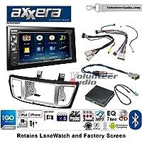Volunteer Audio Axxera AVN6558BT Double Din Radio Install Kit with Navigation Bluetooth CD/DVD Player Fits 2013-2017 Honda Accord