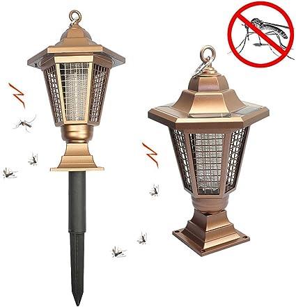 Lámpara solar LED UV antimosquitos, mata-insectos electrónico, para uso exterior e interior, para jardín: Amazon.es: Coche y moto