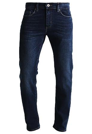 f9fa71b4e5e7 Pier One Jeans Herren - Straight Leg Regular Fit Denim Hose gerade in  Dunkelblau, Hellblau u. Blau im Used Look mit Vintage Waschungen Baumwolle  mit ...